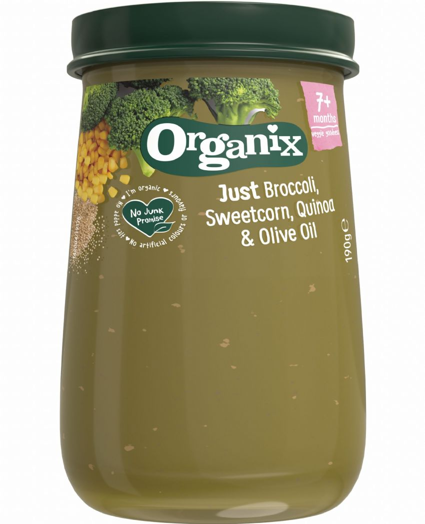 Organix Just Broccoli, Sweetcorn, Quinoa & Olive Oil